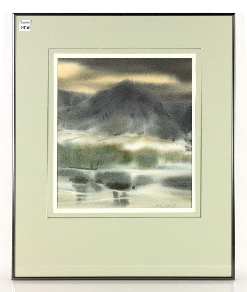 "Yamada, ""Mountains Above Wailuku,"" W/C"