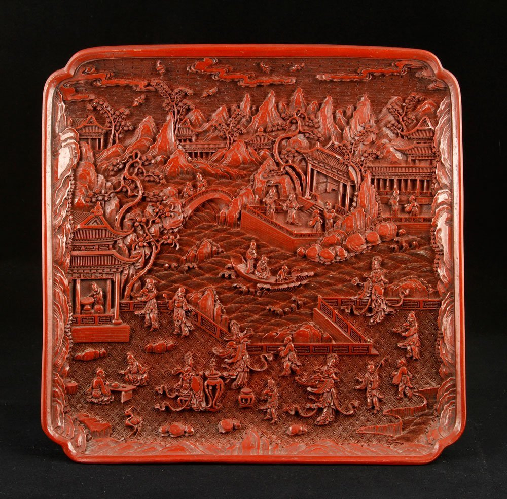 Chinese Cinnabar Charger
