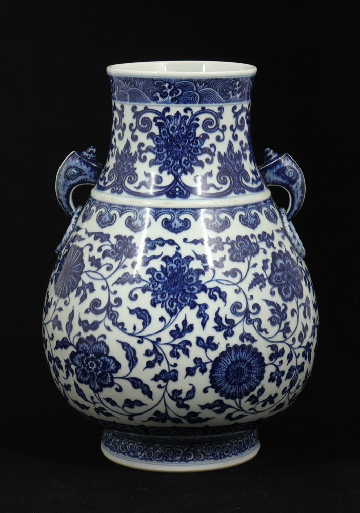 Chinese Blue and White Zun Vase