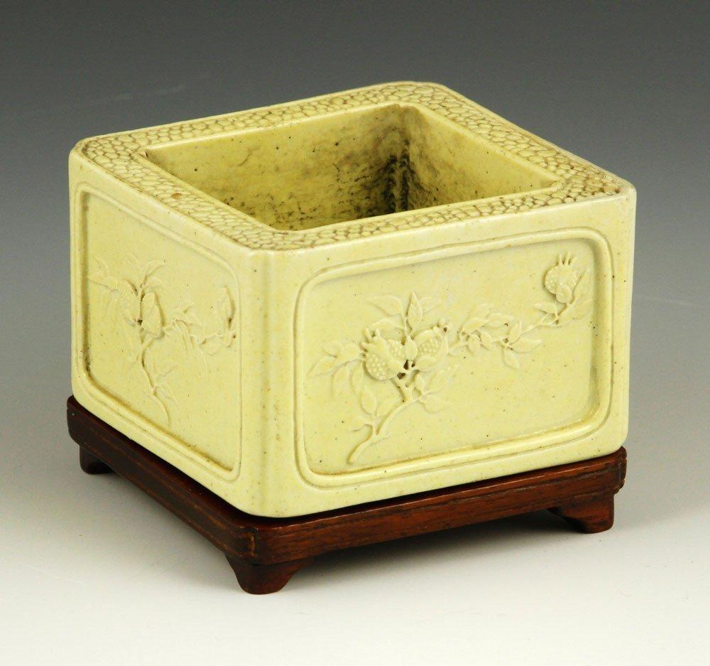 Qing Dynasty White Brush Washer
