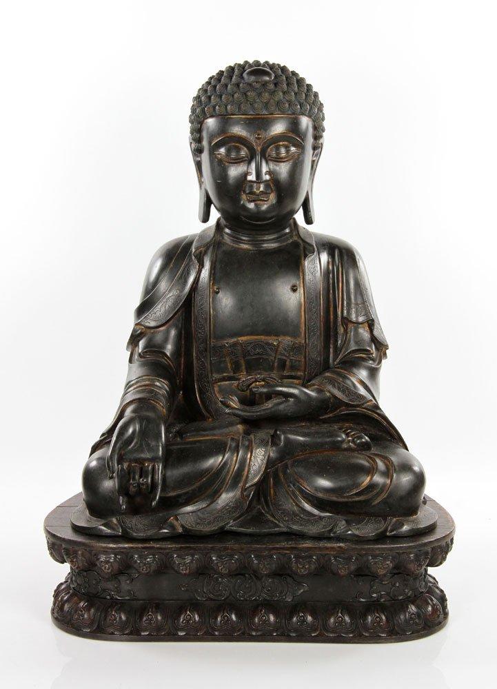 Chinese 18th C. Bronze Buddha