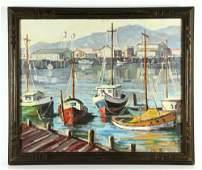 Boats at Dock, O/C