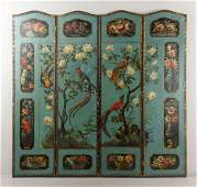 19th C Continental 4Panel Screen