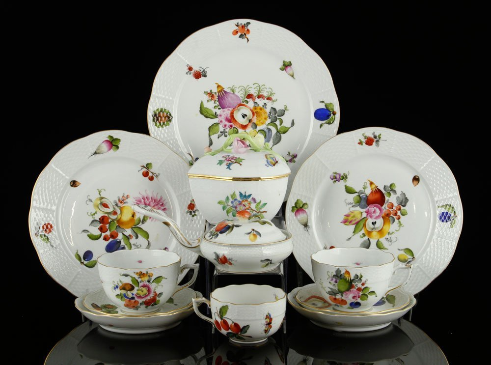 12 Pieces of Herend Porcelain