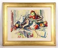 Barnett, Still Life with Apples, W/C