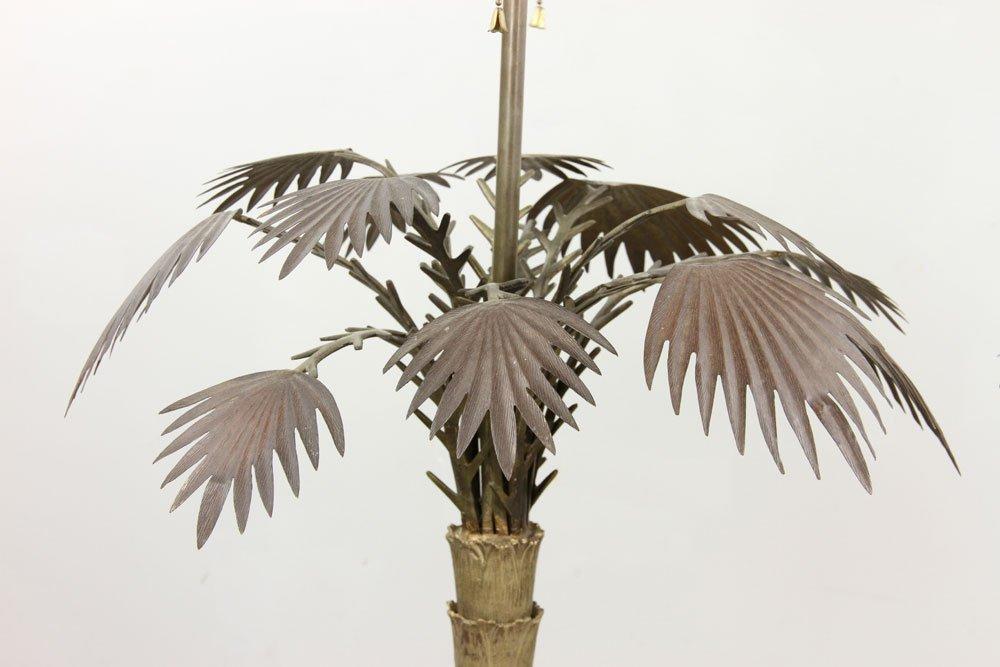 Pr. Brass Palm Tree Lamps - 2