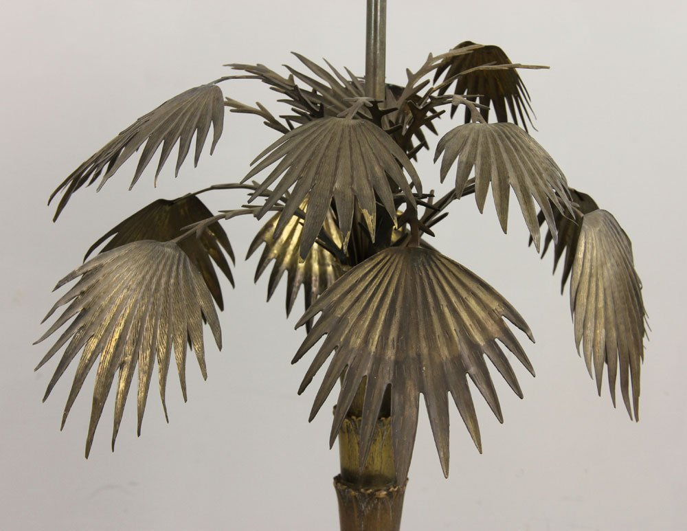 Pr. Brass Palm Tree Lamps - 3