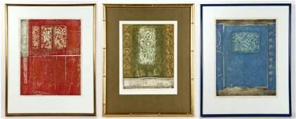 3 Tajima Woodblock Prints