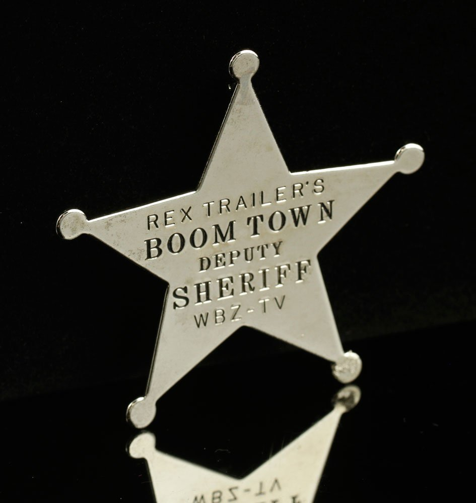 """Official """"Rex Trailer's Boomtown Deputy Sheriff"""" Badge"""