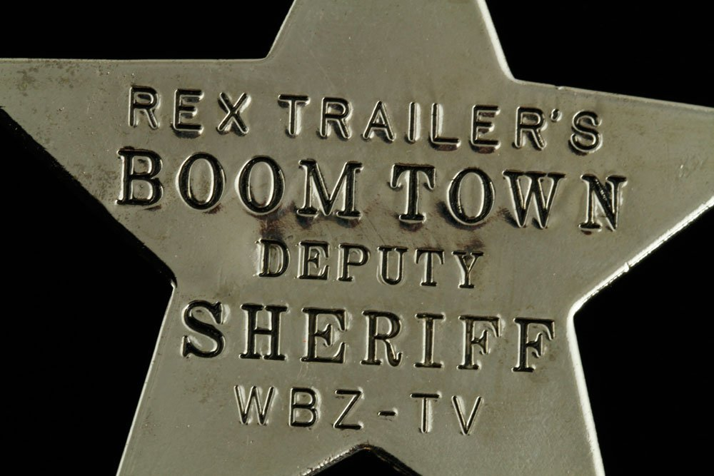 """Official """"Rex Trailer's Boomtown Deputy Sheriff"""" Badge - 4"""