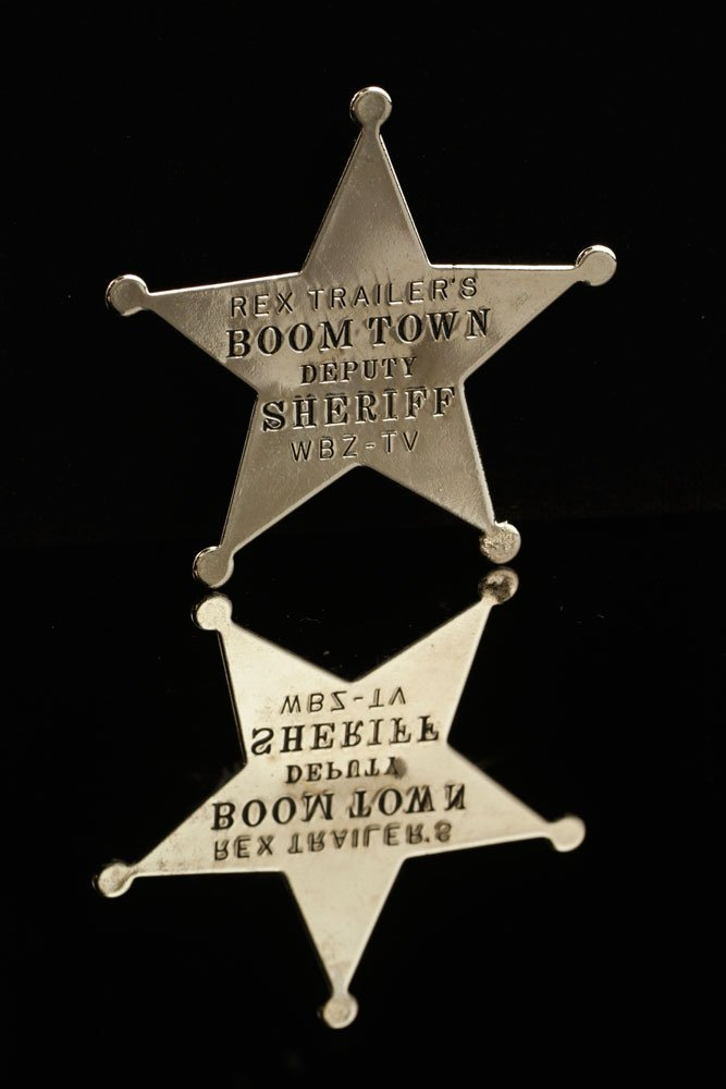 """Official """"Rex Trailer's Boomtown Deputy Sheriff"""" Badge - 5"""