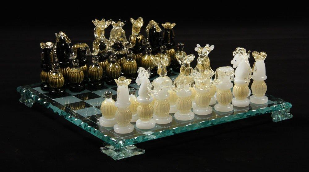 Italian Murano Glass Chess Set