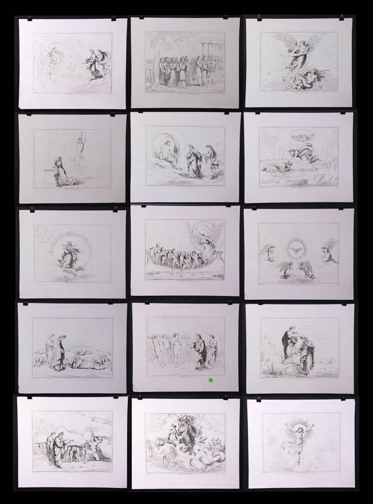 15 Bartolomeo Pinelli Etchings
