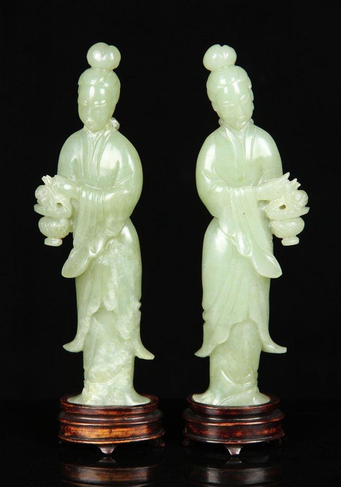 Pr. Republic Period Chinese Figures, Jade