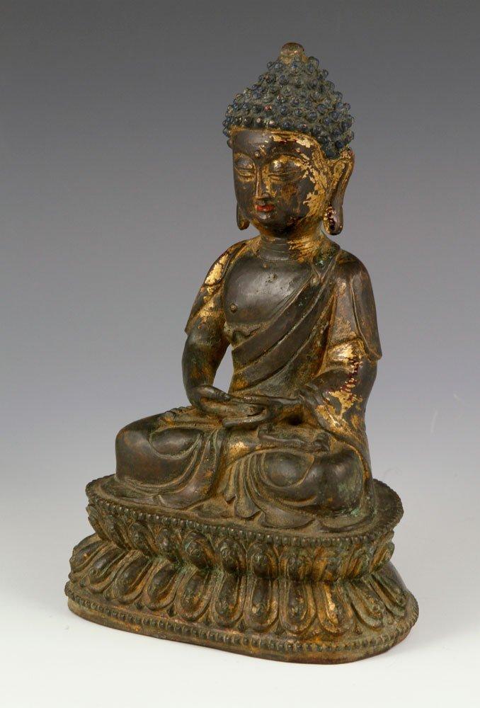 Chinese Buddha Figure, Bronze