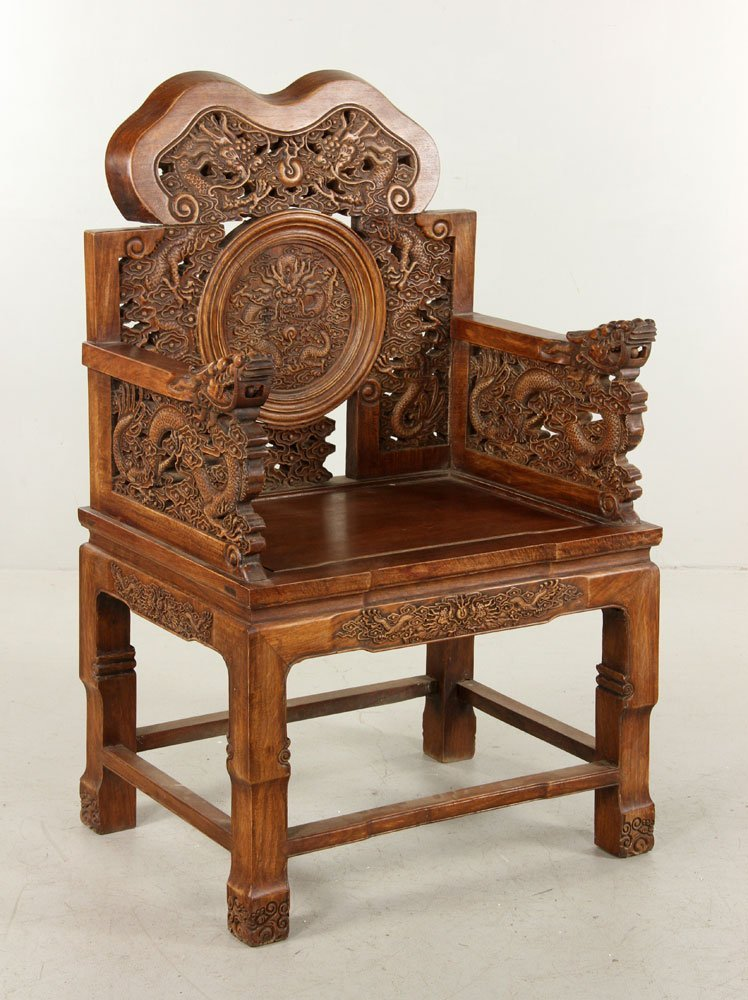 Chinese Carved Chair, Huanghuali