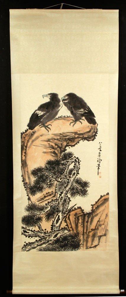 Chinese Scroll Painting After Li Kuchan, W/C