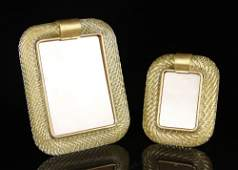 2 Italian Murano Glass Picture Frames