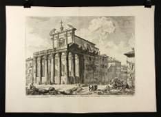 """Piranesi, """"Veduta del Tempio di Antonino…,"""" Print"""