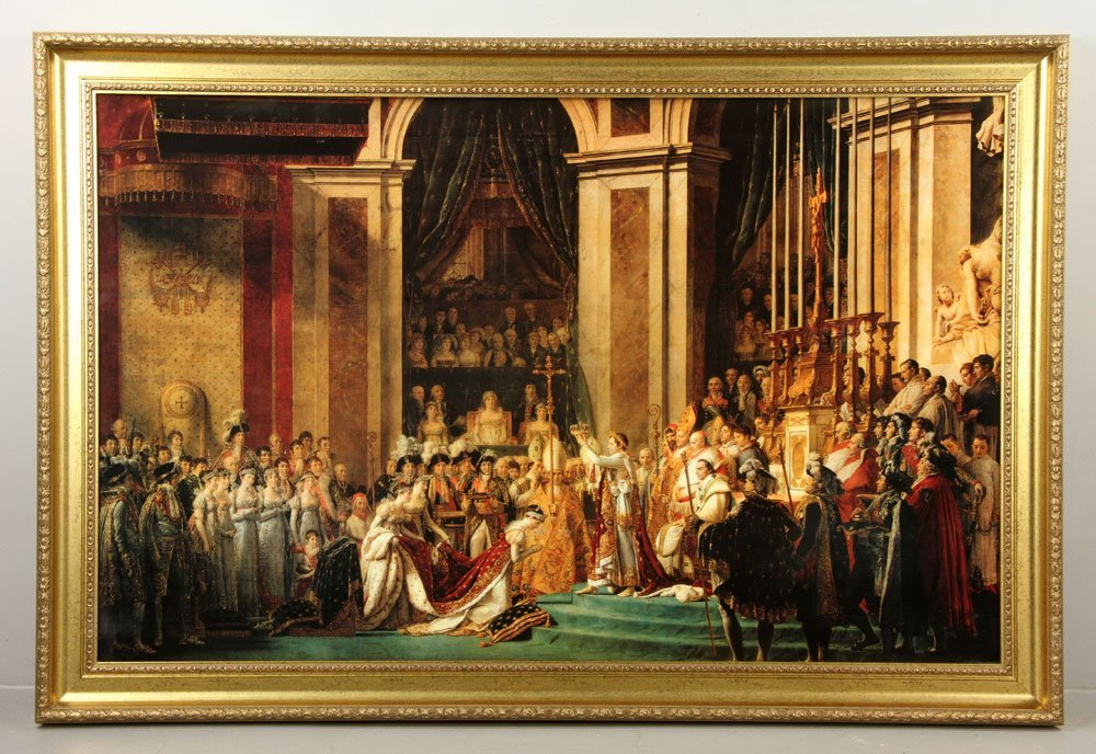 Napoleon Crowning Josephine, Offset Lithograph