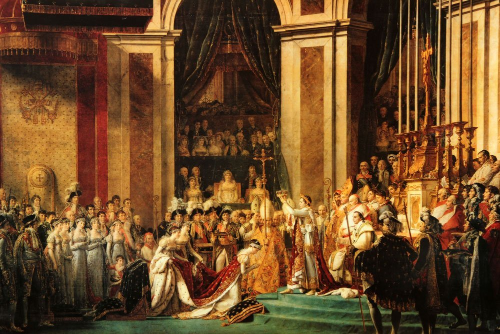 Napoleon Crowning Josephine, Offset Lithograph - 2