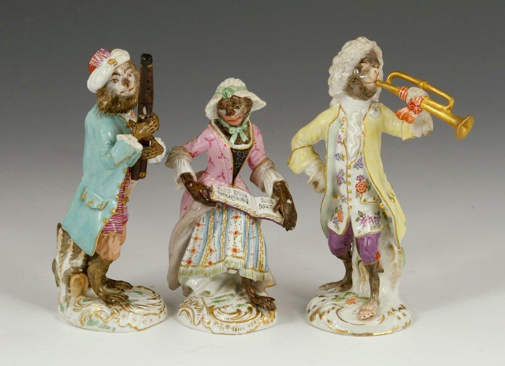 Meissen Monkey Band Figurines