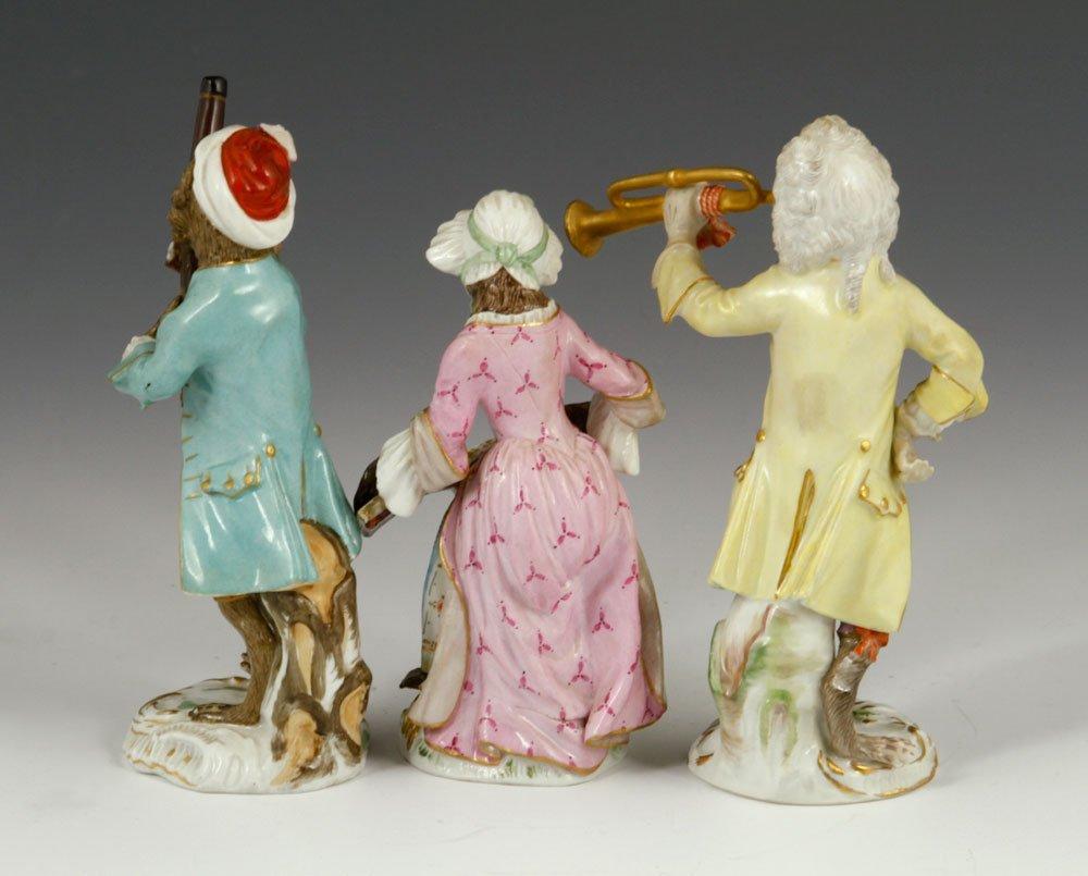 Meissen Monkey Band Figurines - 2
