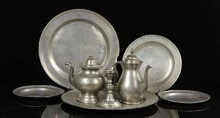 8 Pewter Items