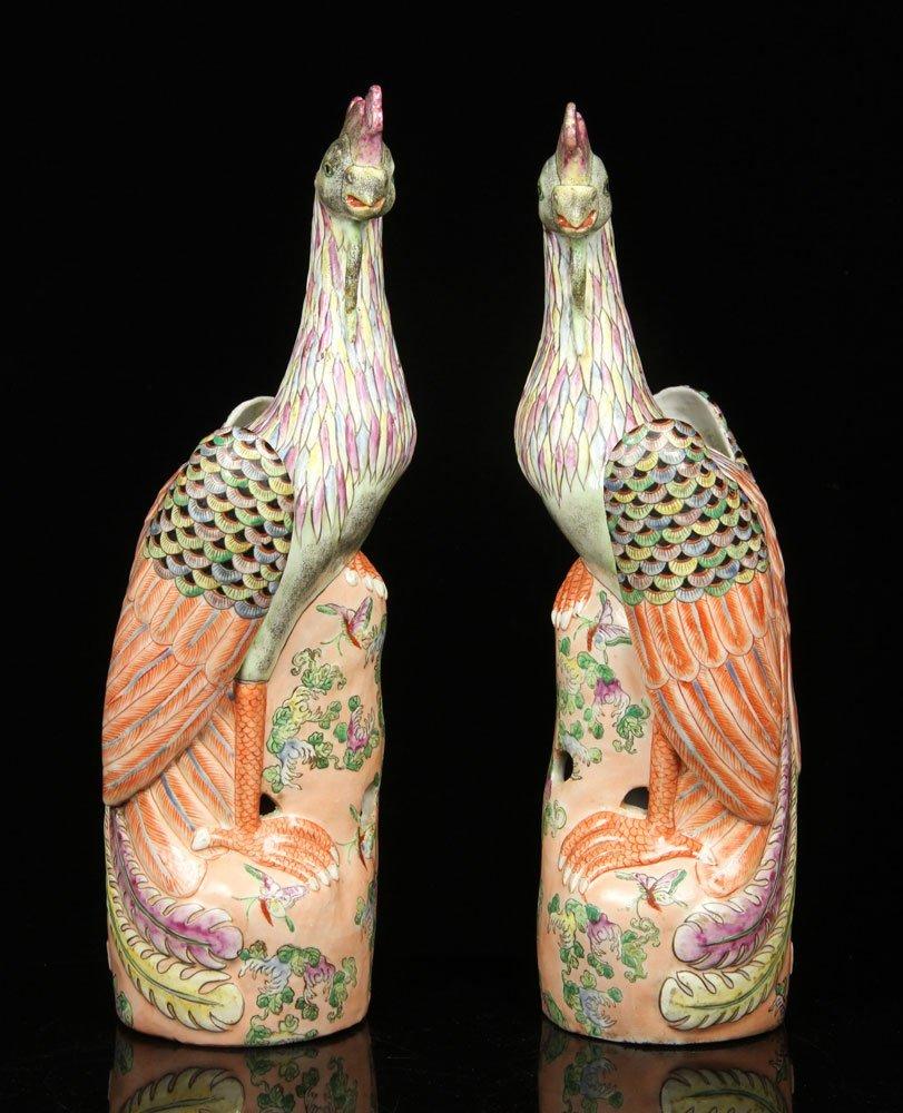Pr. Chinese Porcelain Phoenix Figures