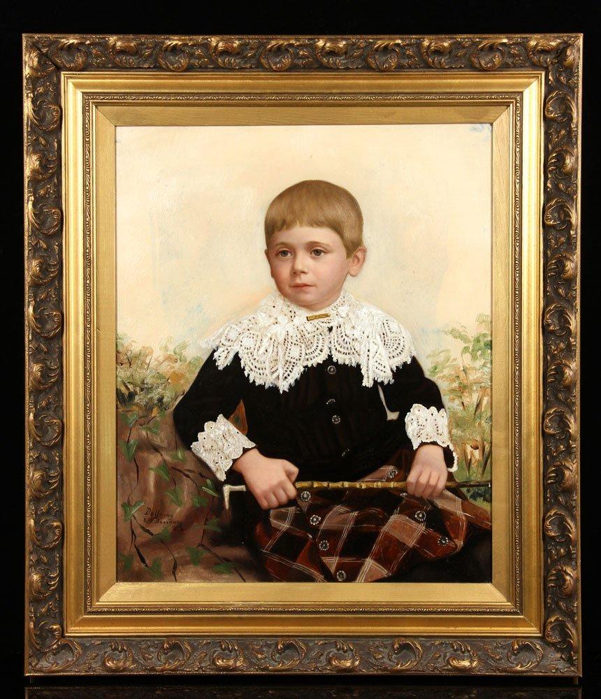 De Young, Portrait of a Young Boy, O/P