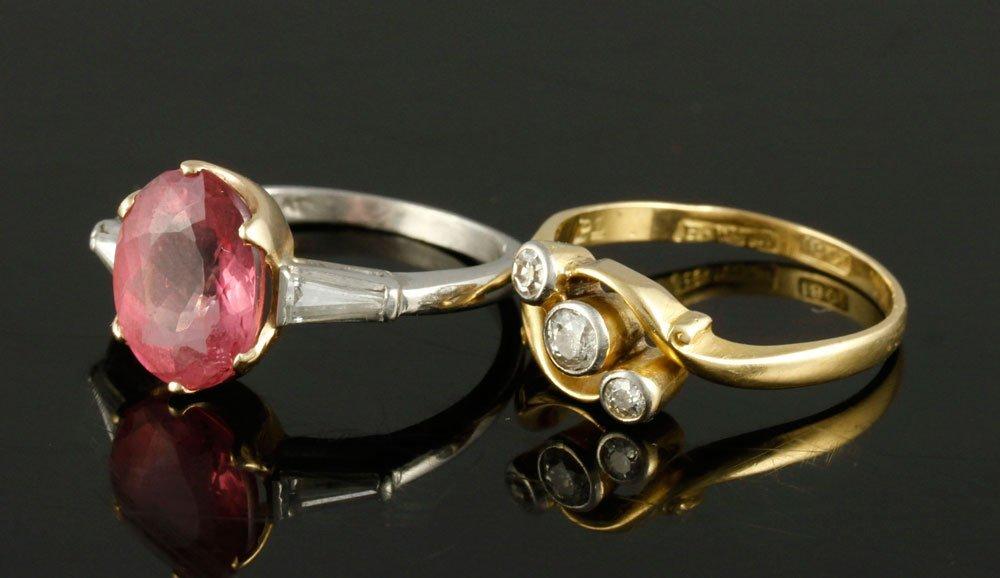 Lot of 2 Diamond Rings