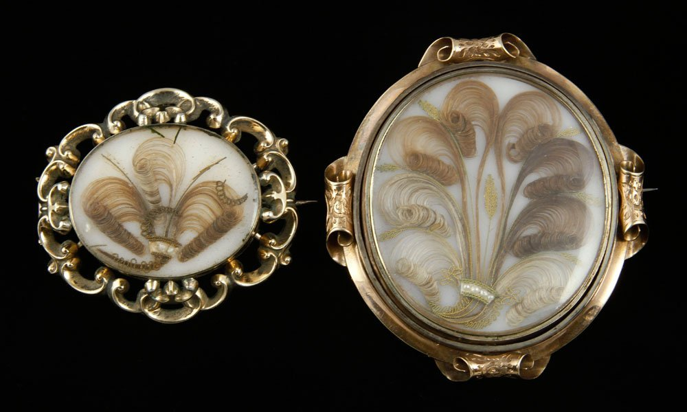 Two 19th C. Mourning Brooches