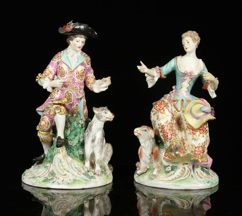 Pair of Porcelain Shepherds