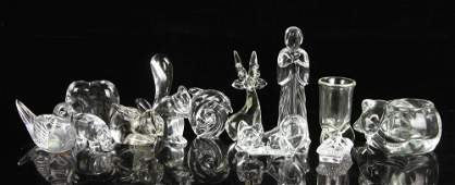 Lot of 12 Crystal Figures