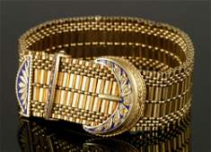 14K Gold Bracelet Watch