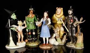 """Lot of 5 Goebel """"Wizard of Oz"""" Figures, Bisque"""