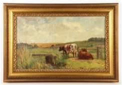 Foxcroft Cole, Cows in Field, O/B