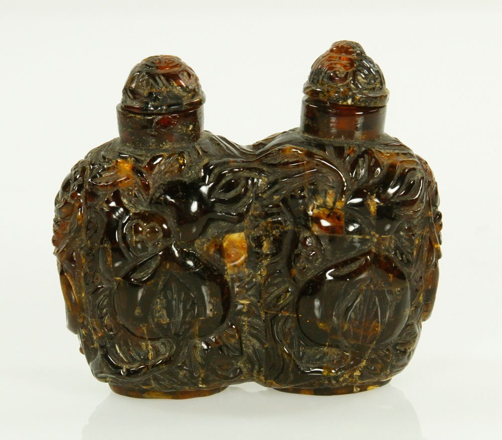 19th C. Chinese Amber Double Snuff Bottle