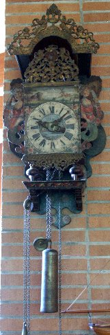 23: 19TH C. WAG ON THE WALL CLOCK