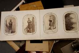 235: 19TH C. PHOTOS AND CIVIL WAR LETTERS