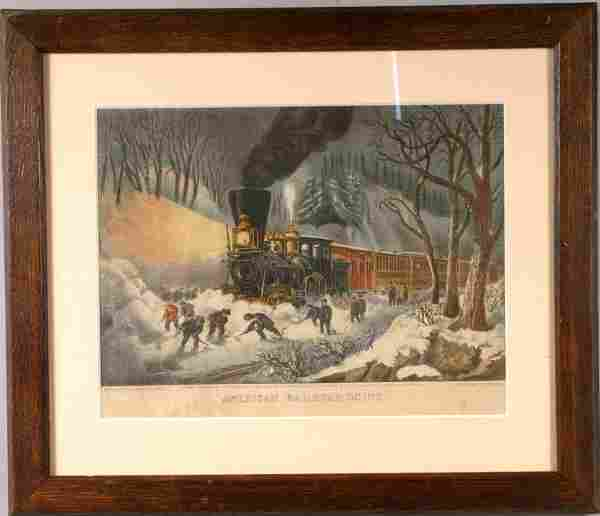 500: CURRIER AND IVES RAILROAD SCENE