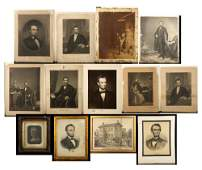 Lot of 13 Early Abraham Lincoln Prints