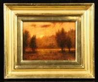 "Davis, ""Plein Air Sunset from Olive Grove, Piazzano,"