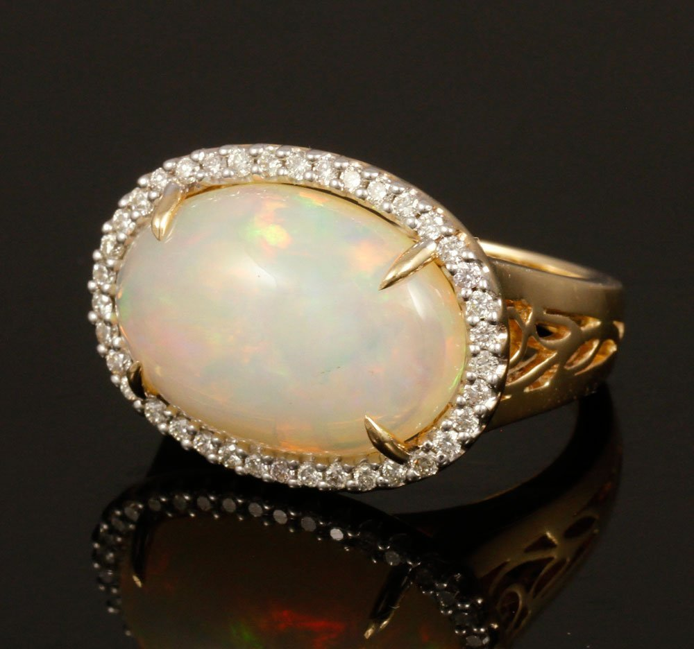Tremonti 14K Gold, Opal and Diamond Ring