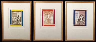 Gilot Seasons Lot of 3 Lithographs
