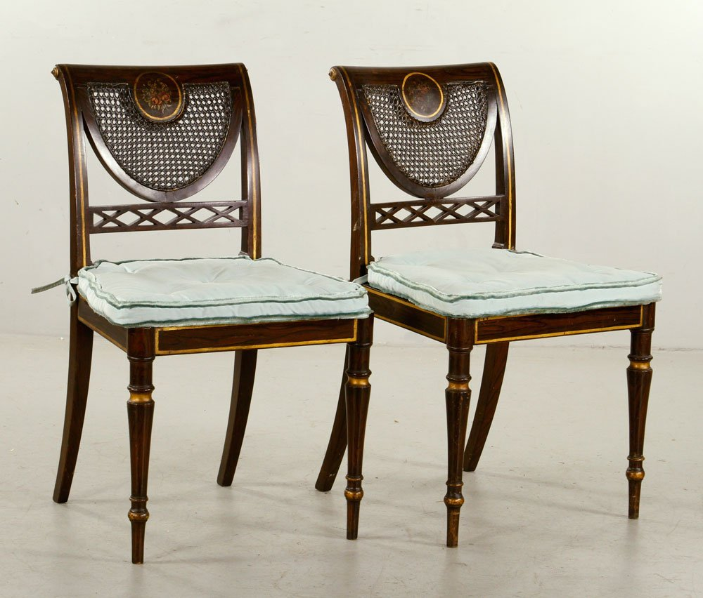 Pr. Late 19th C. Edwardian Chairs