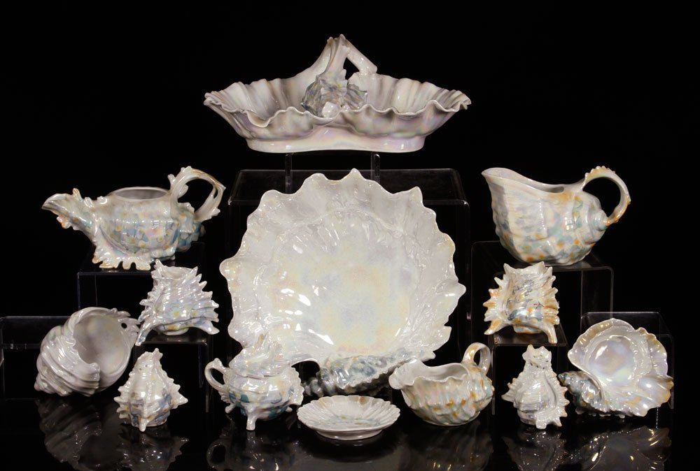 Collection of Royal Bayreuth 'Conch Shell' Porcelain