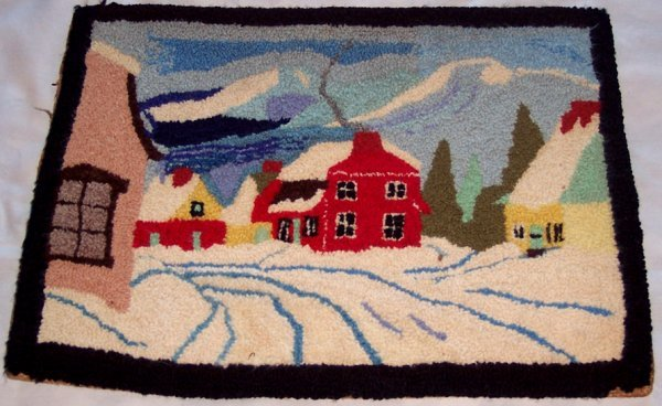 2003: ONE MARITIME HOOKED RUG PICTORAL