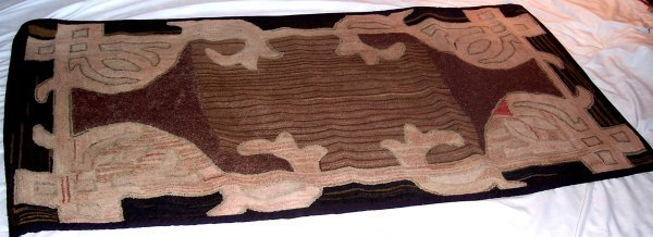 2012: ONE MARITIME HOOKED RUG LARGE ABSTRACT