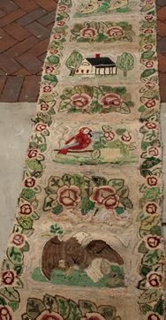 2148: EARLY 20TH C. HOOKED RUG PICTORAL RUNNER - 2